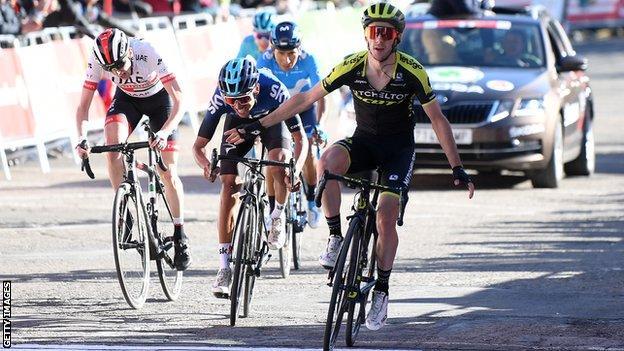 Britain's Adam Yates wins stage three