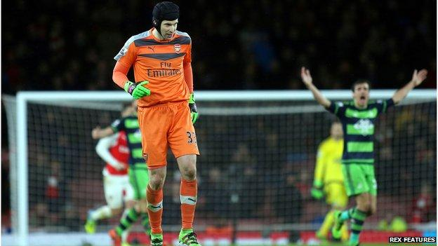 Arsenal keeper Petr Cech