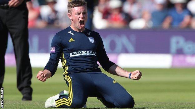 Hampshire and England leg spinner Mason Crane
