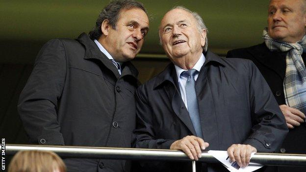 Platini had hoped to replace and Blatter as Fifa president