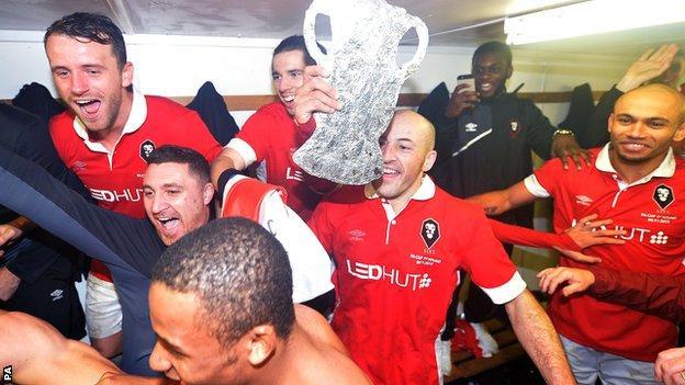 Salford City celebrate