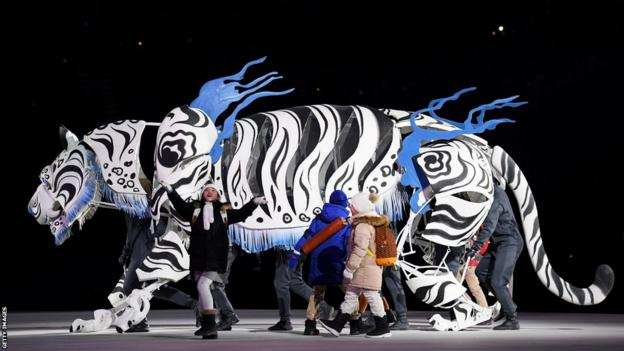 Tiger inside the Olympic Stadium