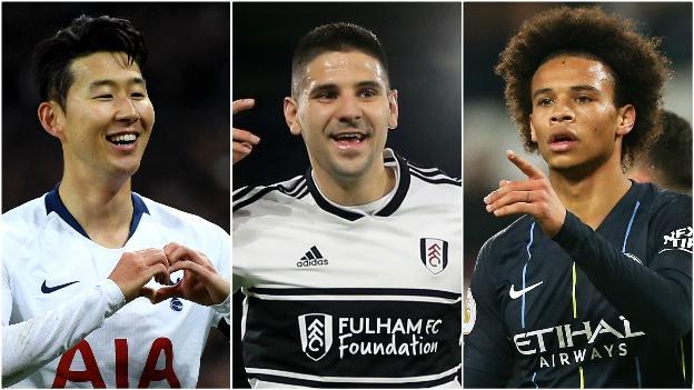 Son Heung-min (Tottenham), Aleksandar Mitrovic (Fulham), Leroy Sane (Man City)