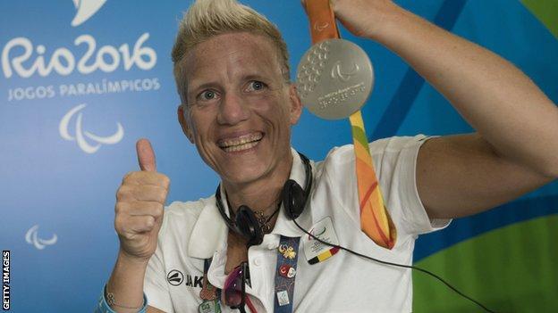 Marieke Vervoort and her Rio silver medal