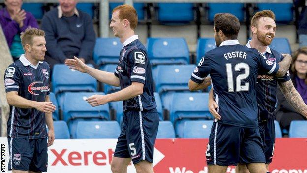 Ross County beat Hamilton 2-0