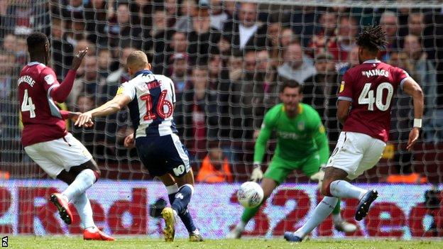 Dwight Gayle scores for West Brom