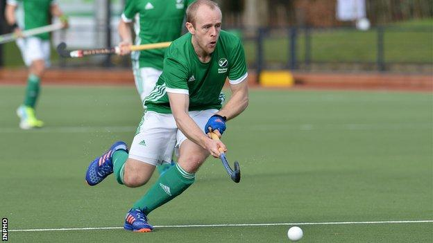 Eugene Magee went close for Ireland in Tuesday's game against Spain