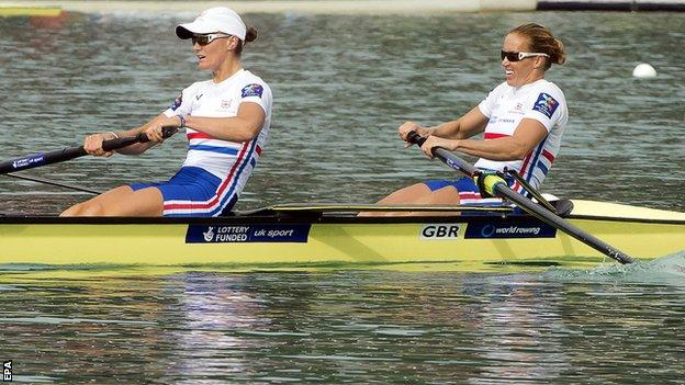 GB rowers Heather Stanning and Helen Glover