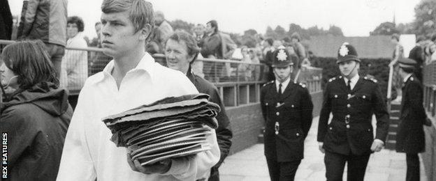 Buster Mottram at Wimbledon 1978