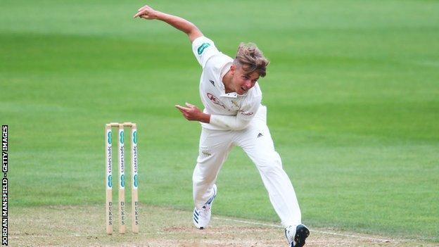 sports Sam Curran took three wickets on his return for Surrey a year and a day since his last appearance for the county
