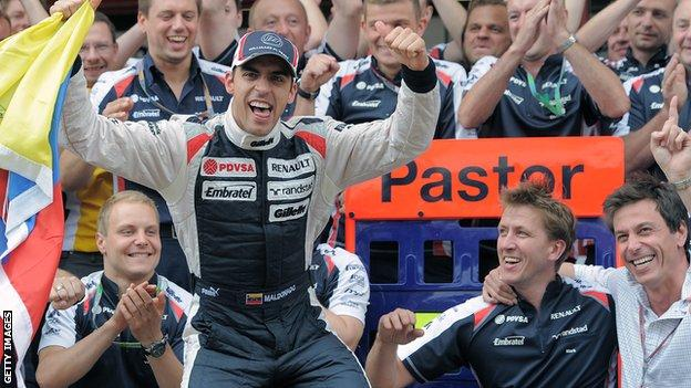 Maldonado wins 2012 Spanish GP
