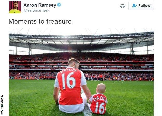Aaron Ramsey Twitter