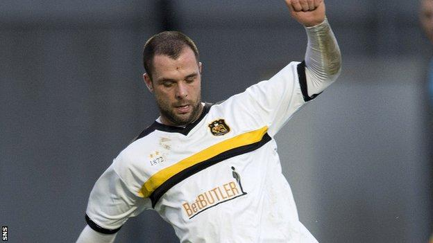 Chris Turner in action for Dumbarton