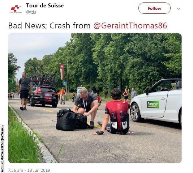 Geraint Thomas tweet