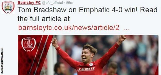 Barnsley FC Twitter