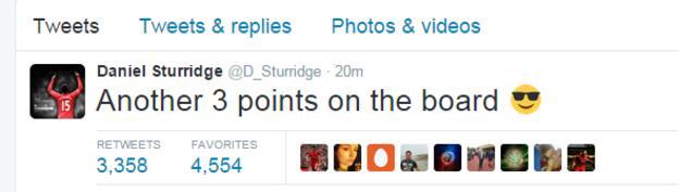 Daniel Sturridge tweet