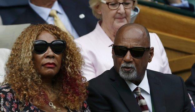 Serena Williams' mother Oracene Price (left)