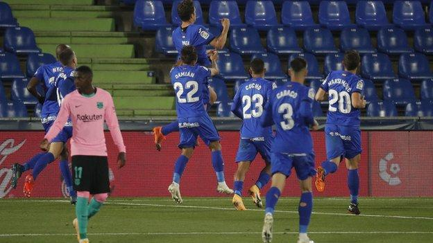 Getafe beat Barcelona