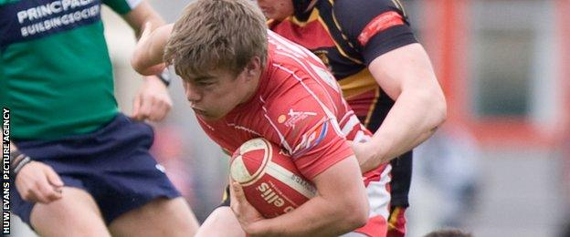 Jack Roberts in action for Llandovery in 2012