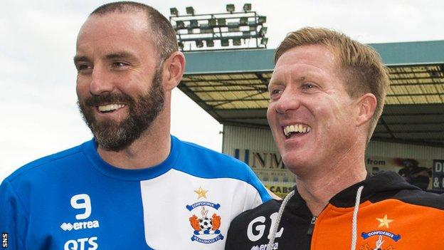 Kris Boyd (left) has linked up with former team-mate and Kilmarnock manager Gary Locke