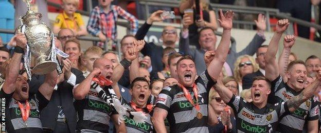 Hull FC have won back-to-back Challenge Cup finals at Wembley, having previously failed to win eight deciders at the venue