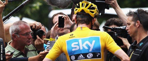 Bradley Wiggins at the 2012 Tour de France