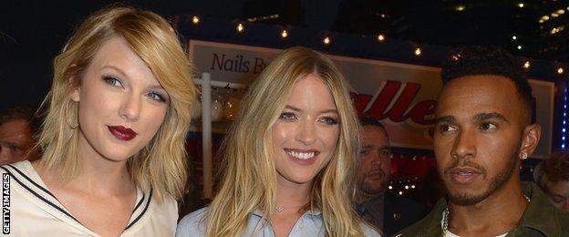 Taylor Swift and Lewis Hamilton at NY Fashion Week