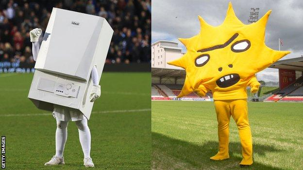 West Brom and Partick Thistle mascots