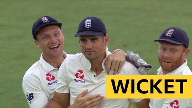 England v India: Alastair Cook's catch dismisses Ajinkya Rahane thumbnail