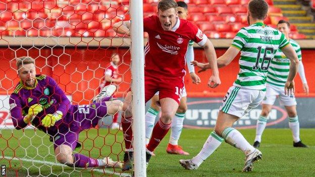 Aberdeen's Lewis Ferguson scores