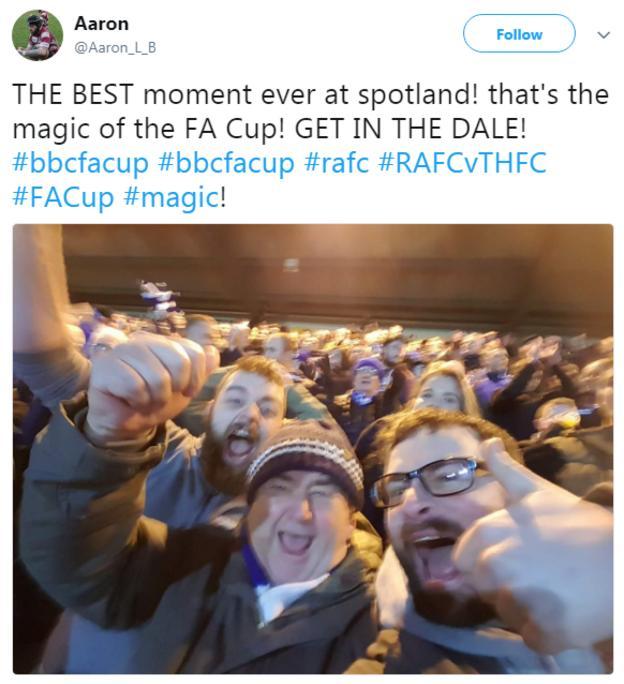 Rochdale fans celebrate