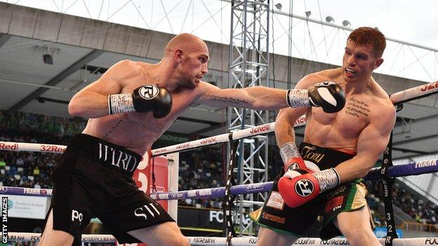 Ward defeated Steve Collins Jr at Windsor Park in August