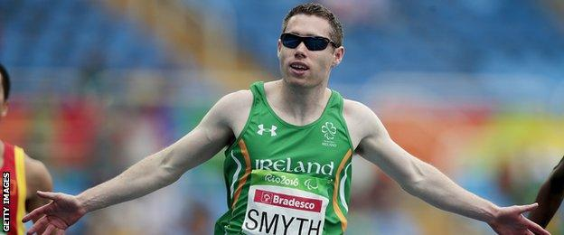 Jason Smyth maintained his status as the world's fastest Paralympic as he retained his T13 100m title in Rio