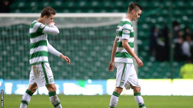 Celtic lost at home to Motherwell on Saturday