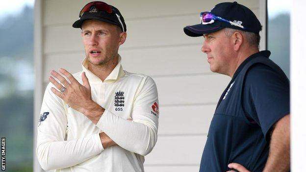 Joe Root and England coach Chris Silverwood