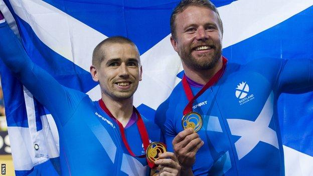 Para cyclist Neil Fachie (left) has welcomed the £8m boost to the sport