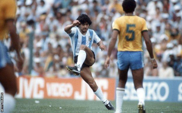 Diego Maradona in 1982