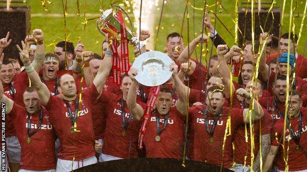 Wales celebrate their 2019 Grand Slam