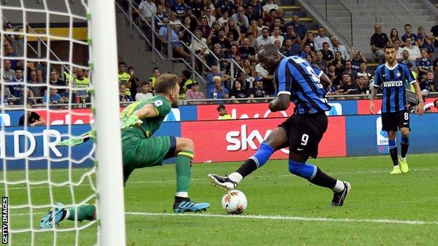 Inter Milan's Romelu Lukaku