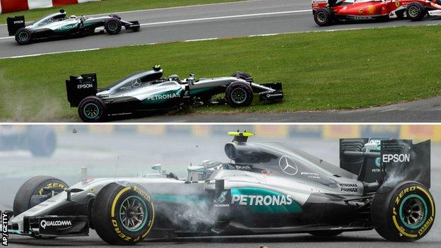 Nico Rosberg's incidents at the Canadian Grand Prix