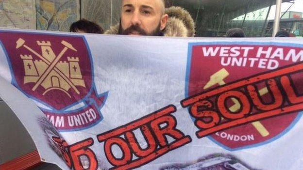 100649143 soldoursoul - West Ham three-0 Southampton: Protests, marches and three precious components - Saturday at London Stadium