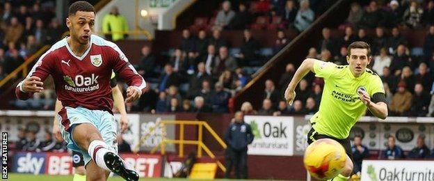 Burnley striker Andre Gray