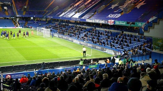 Fans at Stamford Bridge