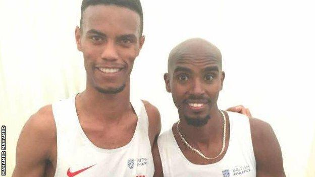 Mahamed Mahamed and Mo Farah