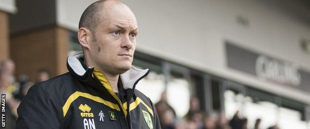 Norwich City manager Alex Neil