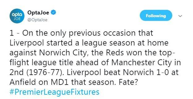 Liverpool have not won the top-flight title since 1990 and they were beaten to it by a point by Manchester City in the 2018-19 season