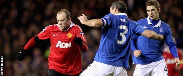 Wayne Rooney, David Weir and Kyle Hutton