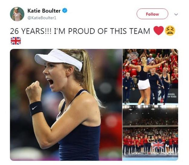 Great Britain win Fed Cup tie