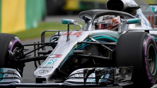 Lewis Hamilton on pole in Australian Grand Prix as Valtteri Bottas crashes