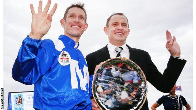 Hugh Bowman and Chris Waller